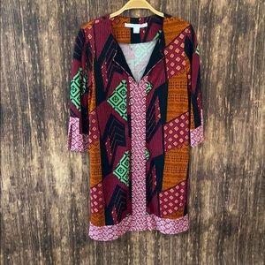 Diane von Furstenberg printed dress size 4